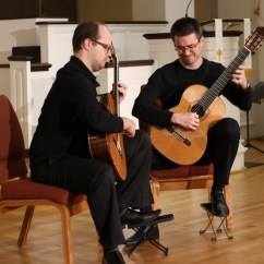 Classical Guitar Chair Wedding Covers Cumbria Duo 220 With Special Guest Caroline Kubach Wilmington 220photo By Matthew Lavanish