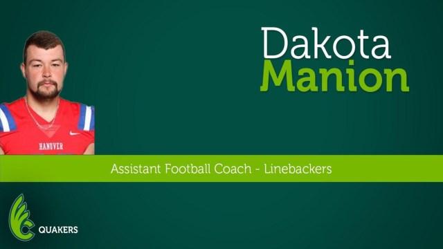 Dakota Manion Joins Football Staff