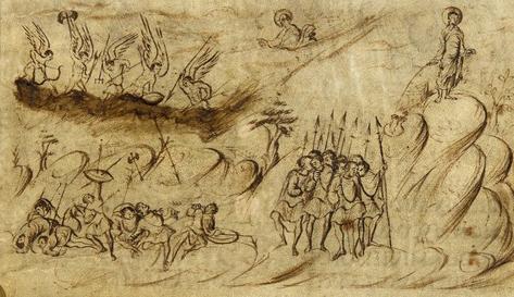Utrecht Psalter illustration for Psalm 2