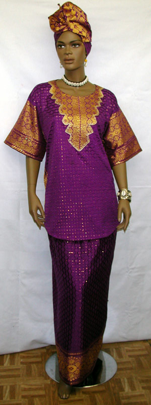 african dress elegant purple