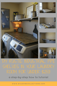 Laundry Room Makevover for under $250! With DIY Rustic ...