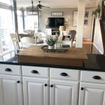 My Kitchen Cabinet Makeover Painted White Island With Black