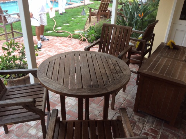refinishing teak outdoor furniture / wilson painting & finishing