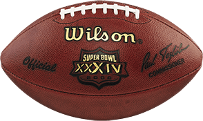 The football used in Super Bowl 34