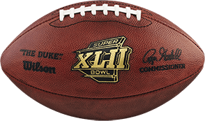 The football used in Super Bowl 42