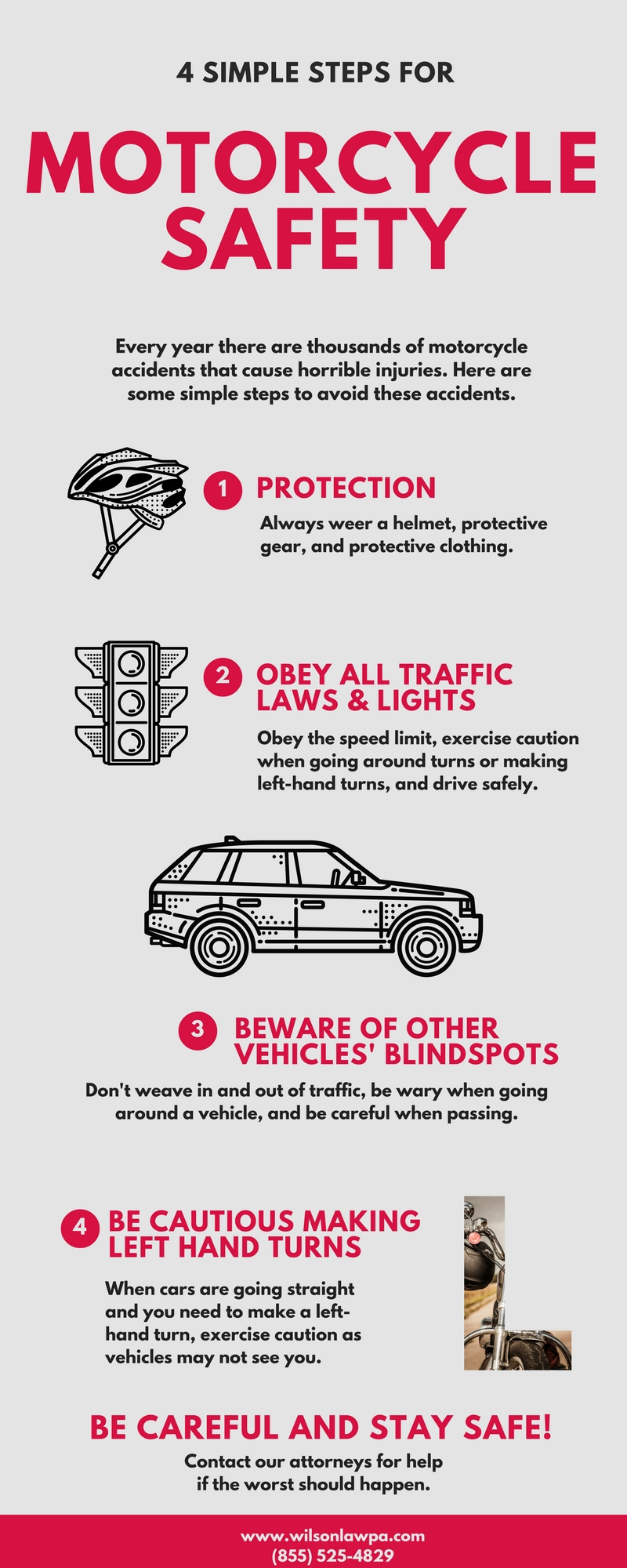 Infographic - Motorcycle Accident Safety Tips