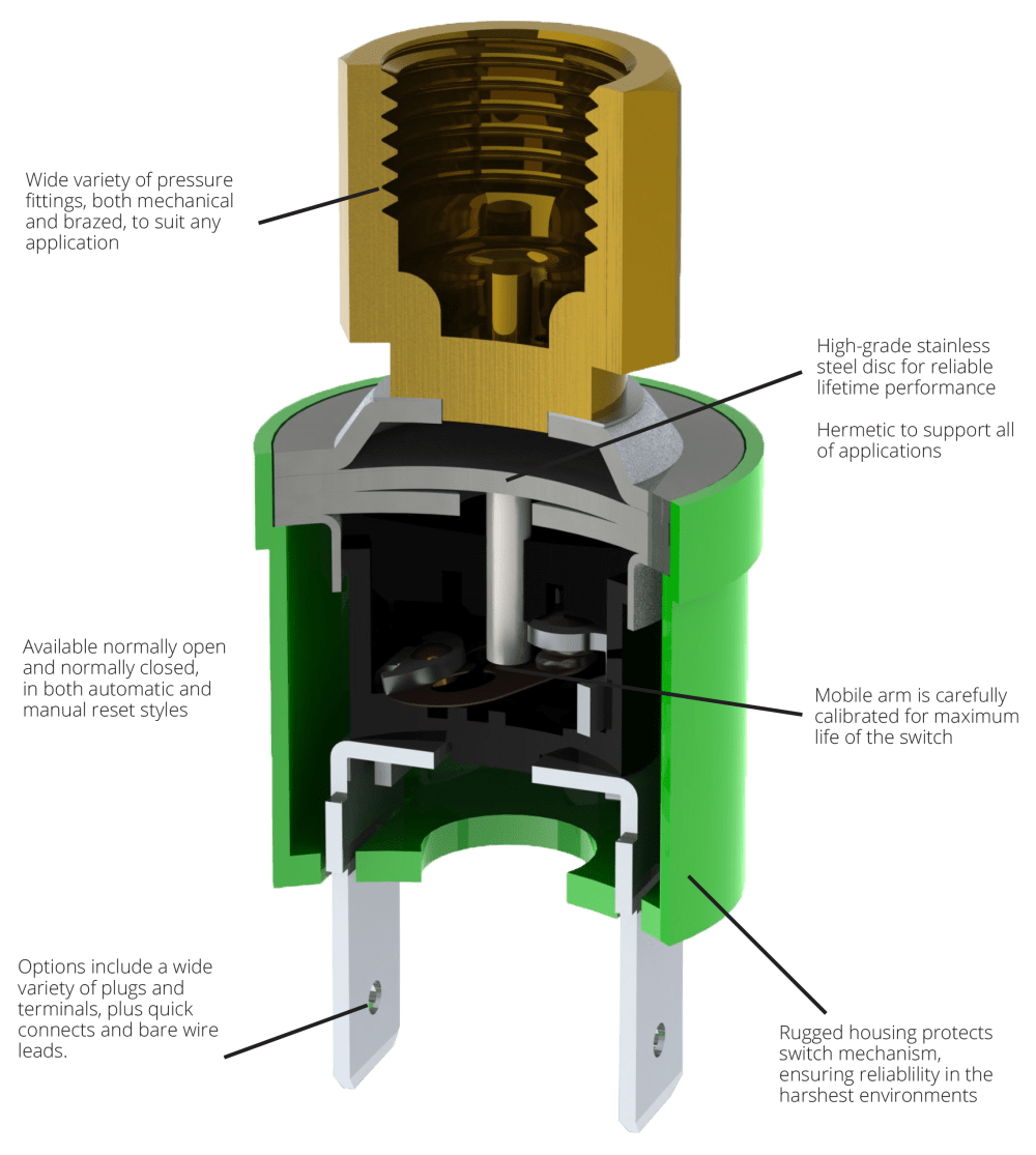 medium resolution of pressure switches wilspec fan cycle switch wiring diagram