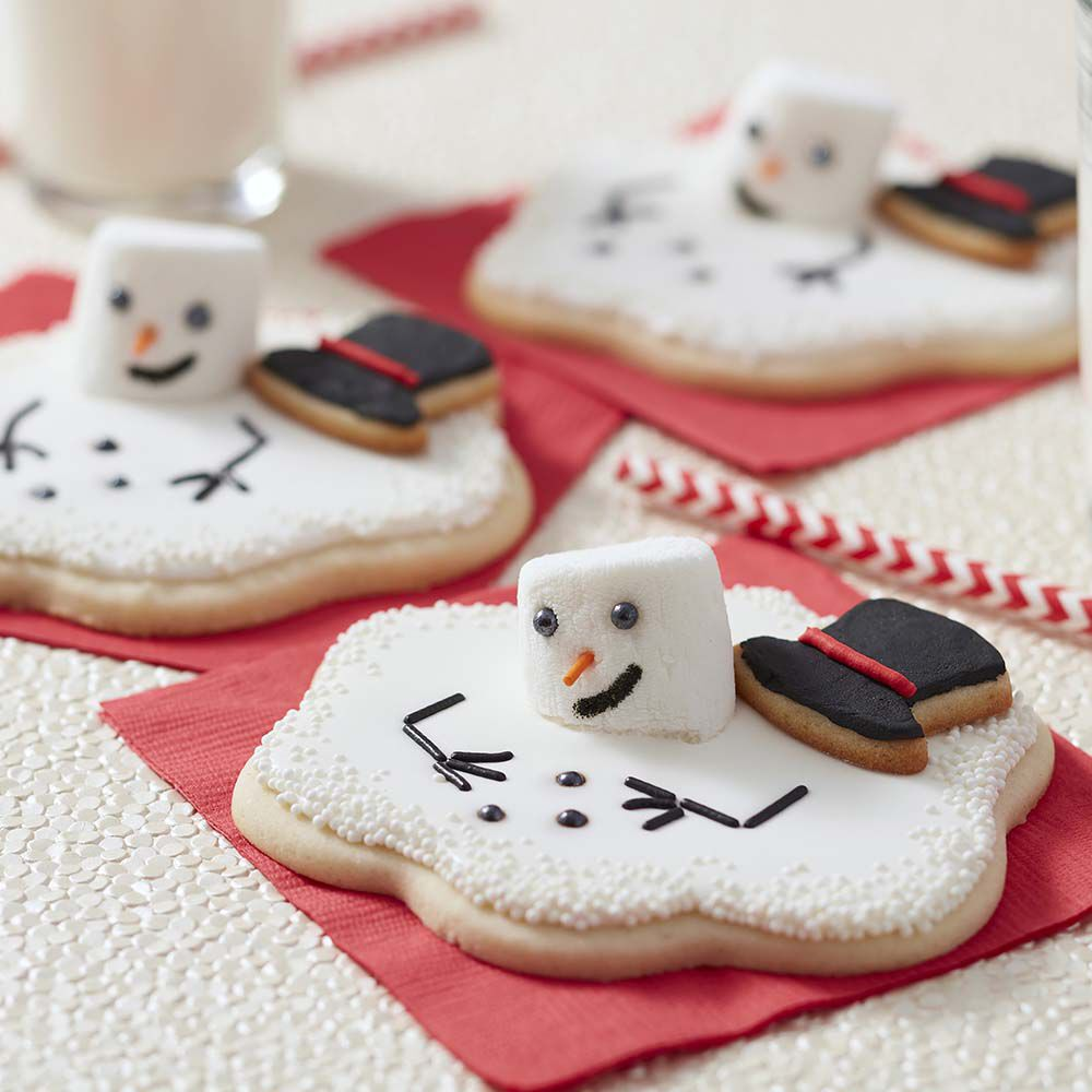 Melting Snowman Cut Out Cookies Wilton