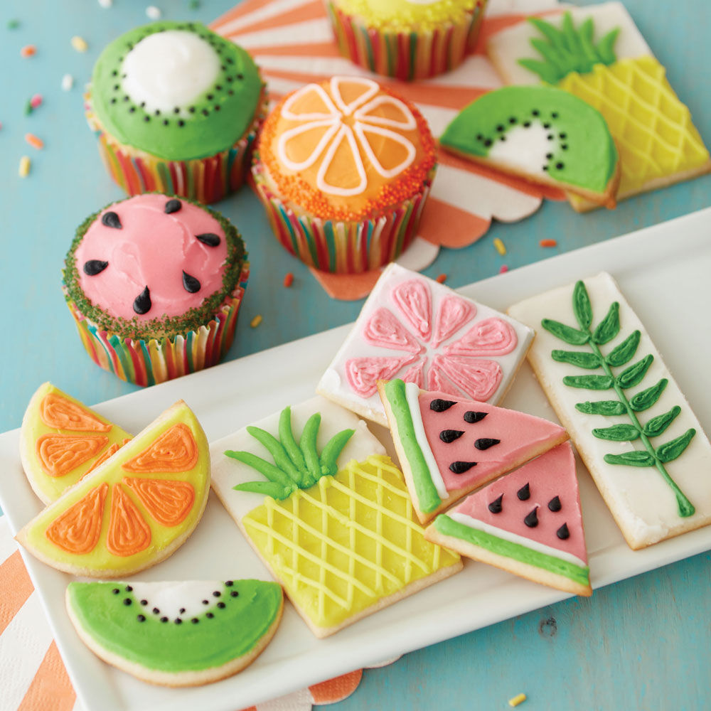 Cute Wallpapers Pineapple Watermelon The Fruits Of Summer Cupcakes And Cookies Wilton