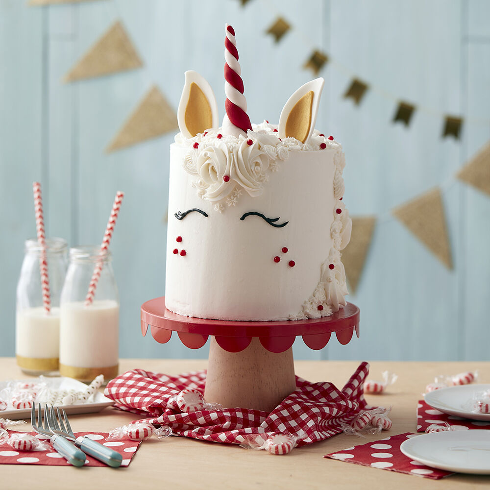 Unicorn Head Cake Peppermint Cake Wilton