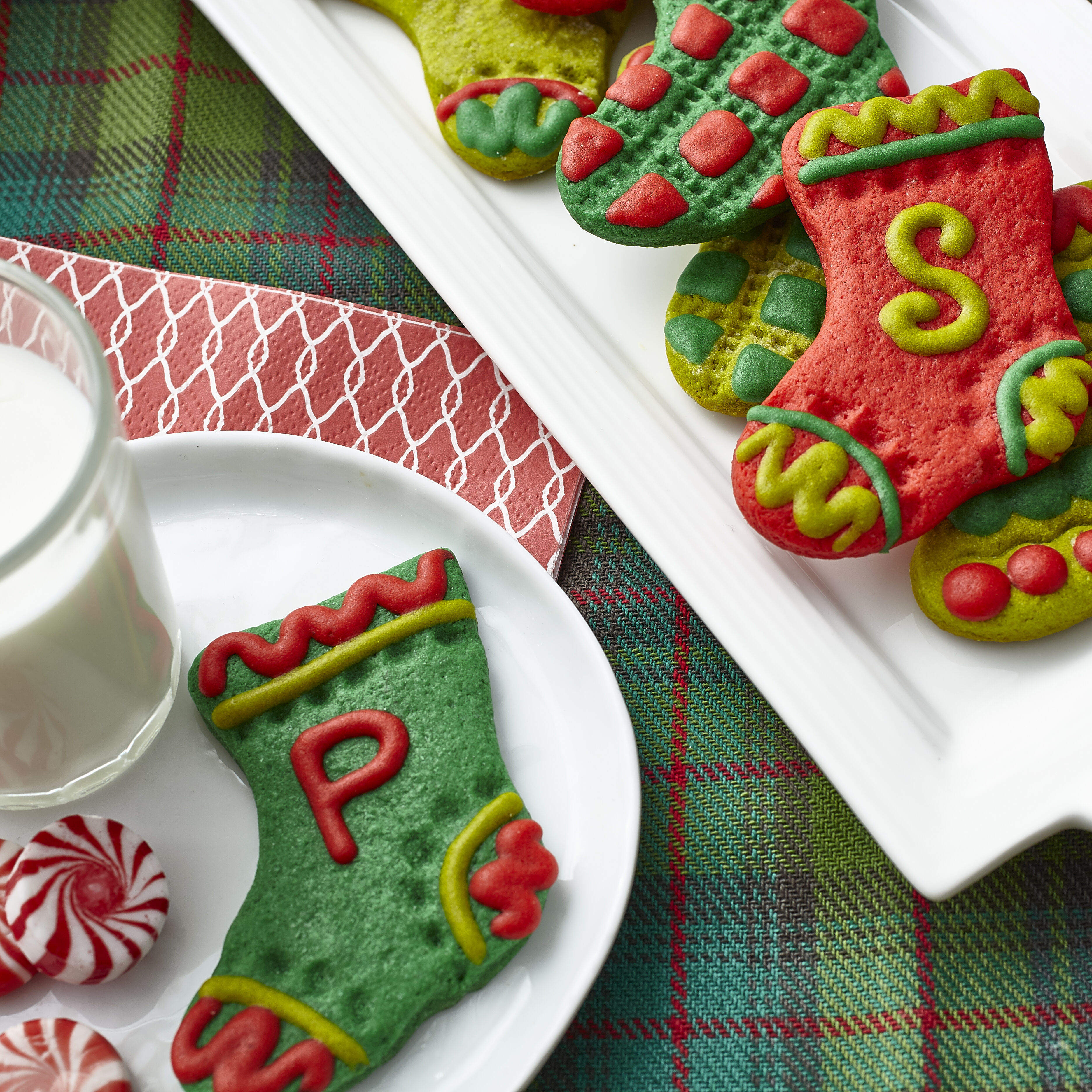 Stocking Christmas Cookies In Festive Colors Wilton