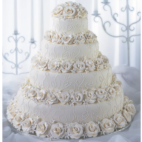 Roses And Lace Romance Cake Wilton