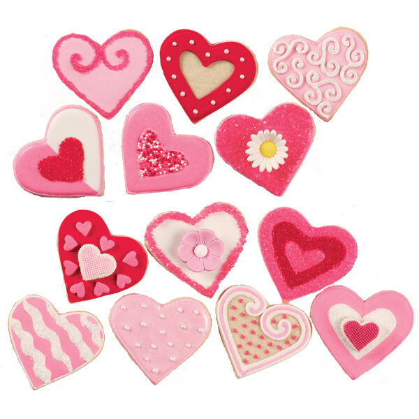 Variety Of Valentines Day Cookies Wilton