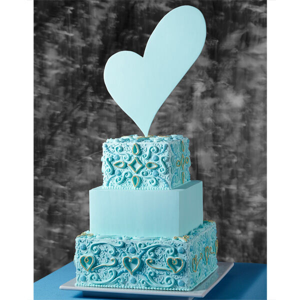 Blue Symmetry Wedding Cake  Wilton