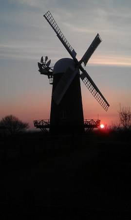 Wilton Windmill sunset on a February day. Image courtesy of Susie Brew