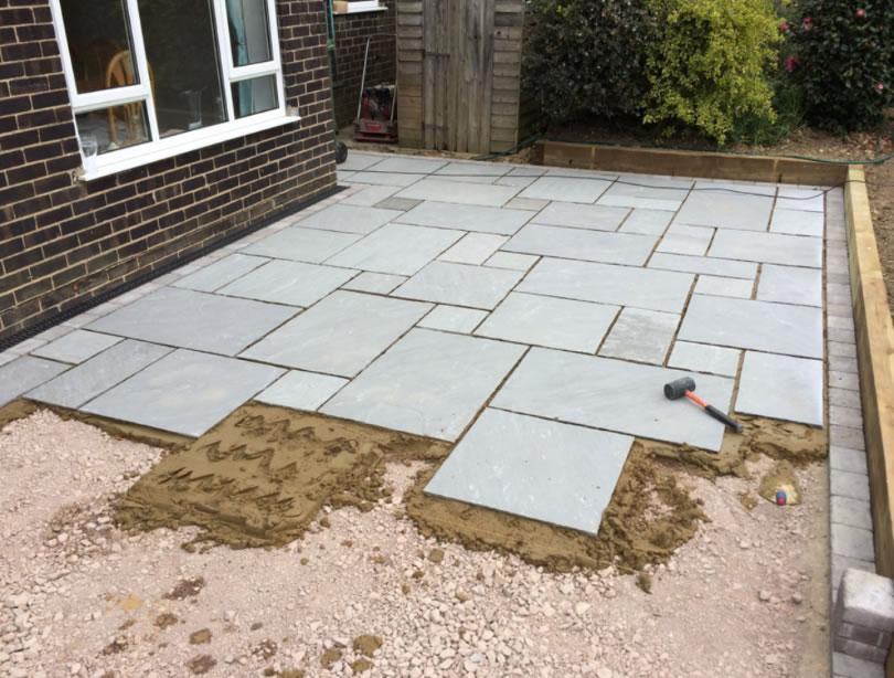 grey natural stone patio wiltshire paving