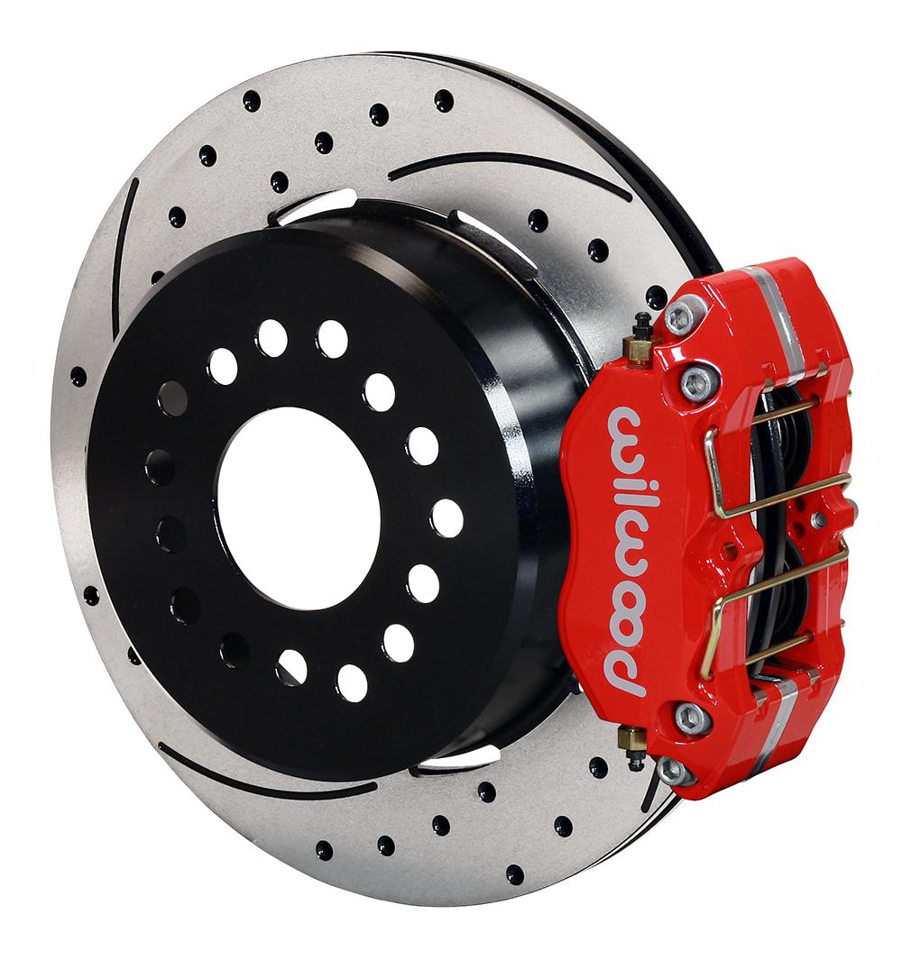 hight resolution of wilwood dynapro dust boot rear parking brake kit red powder coat caliper srp