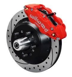 wilwood forged narrow superlite 6r big brake front brake kit hub red powder [ 1000 x 1082 Pixel ]
