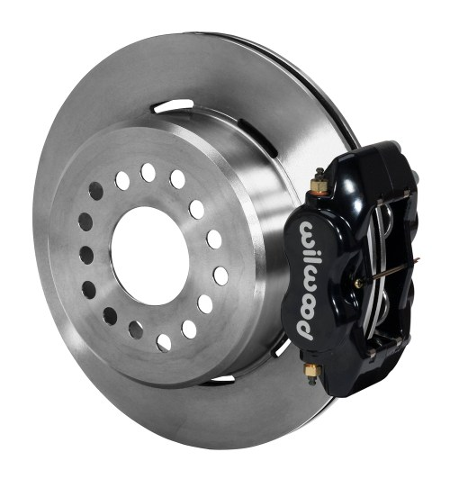 small resolution of wilwood forged dynalite rear parking brake kit black powder coat caliper plain face rotor