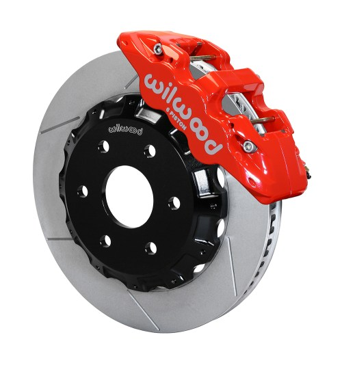 small resolution of wilwood aero6 big brake truck front brake kit red powder coat caliper gt slotted