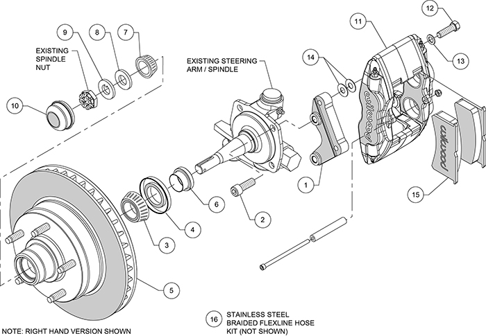 1948-1954 Chevy Truck Wilwood Power Disc Brake Kit 140