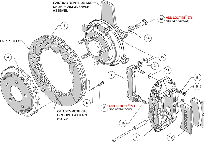 Details about Wilwood Forged Narrow Brake Kit for 04-10