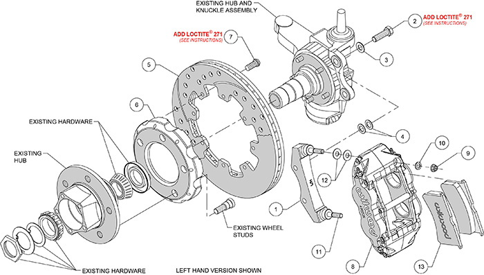1982-1986 Jeep CJ Wilwood Disc Brake Kit w/ 8 Dual Bendix