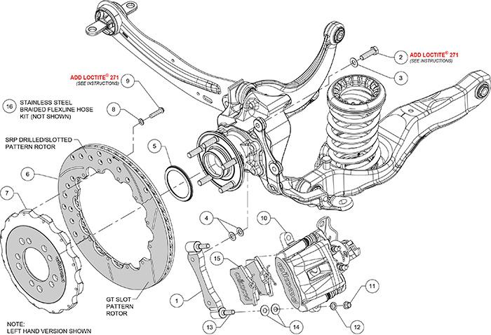 Ford Focus Rear Brake Caliper Diagram