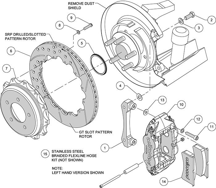 Wilwood Forged Narrow Superlite 4R Big Brake Rear Brake