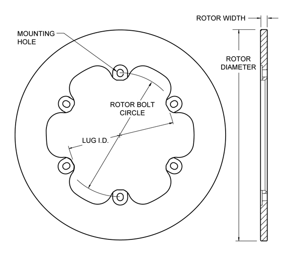 Disc Brake With Integral Style Rotor Diagram