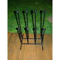 Boot holder rack Wrought iron family style