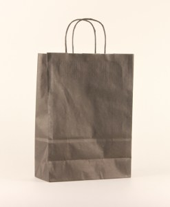 papieren luxe draagtas zwart