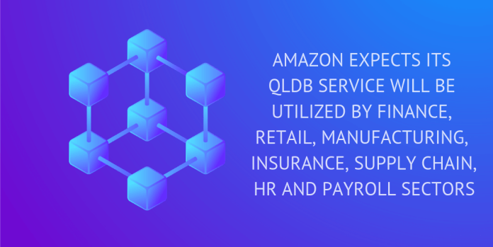 amazon expected its qldb service will be utilized by finance , hr
