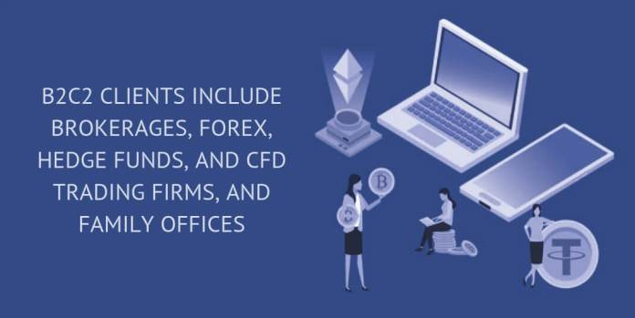 B2C2 CLIENTS INCLUDE BROKERAGES, FOREX, HEDGE FUNDS, AND CFD TRADING FIRMS, AND FAMILY OFFICES