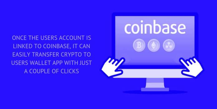 WIMPLO COINBASE ALLOWS ITS USERS TO LINK COINBASE ACCOUNT WITH JUST A FEW CLICKS