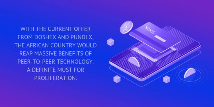 With the current offer from DoshEx and Pundi X, the African country would reap massive benefits of peer-to-peer technology. A definite must for proliferation.