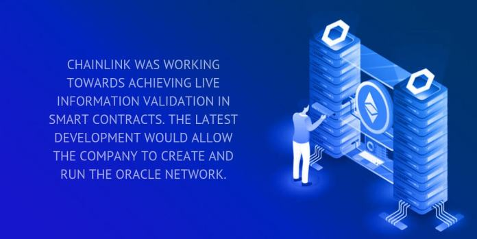 Chainlink launches network on Ethereum   WIMPLO