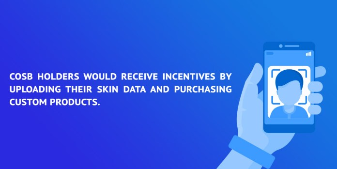 COSB holders would receive incentives by uploading their skin data and purchasing custom products.