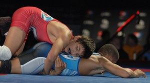 Zahid Valencia, top-ranked at 113, moved up to 120 pounds to win the USAW Folkstyle Nationals in Cedar Falls, April 6.