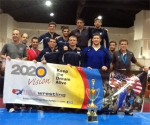 Members of the 2013 Pan American Championships freestyle continued to share the message of keeping wrestling in the Olympics