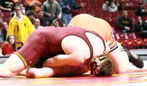 Minnesota heavyweight Anthony Nelson pinned Oklahoma State's Alan Gelogaev as the Gophers won a second straight NWCA National Duals championship.