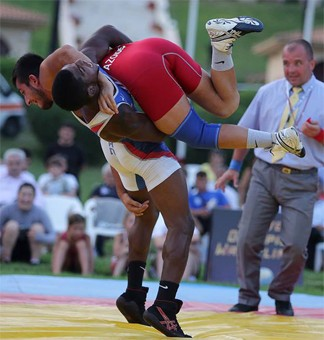 Greco-Roman wrestler Ellis Coleman was among seven American wrestlers to earn a medal at the July 20-21 event in Olympia, Greece, to Keep Olympic Wrestling