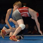 Stevan Micic of Indiana (blue) won the 2011 Cadet national champonship.