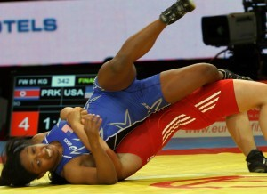 Victoria Anthony split four matches at 51 kilos in her first World Championship.