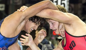 Idaho's Jon Jay Chavez (right) defeated his former California rival Anthony Valencia during the 2013 Junior Nationals this past summer in Fargo.