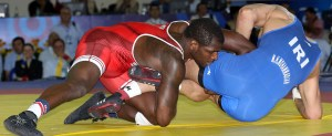 Worlds rookie Ed Ruth outscored two foes, 16-9, but split two matches. (Bob Mayeri image)