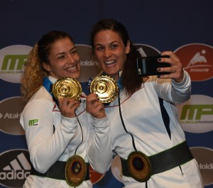 Helen Maroulis (left) and Adeline Gray captured the  13th and 14th all-time gold medals by U.S. women