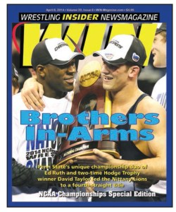 David Taylor (right) and Ed Ruth led Penn State to NCAA team title in 2014. Will the two former teammates now face each other in freestyle?