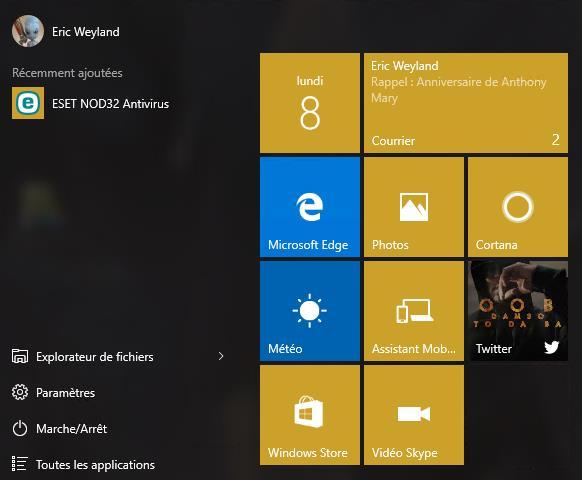 Afficher tous les programmes dans le menu Démarrer de Windows 10