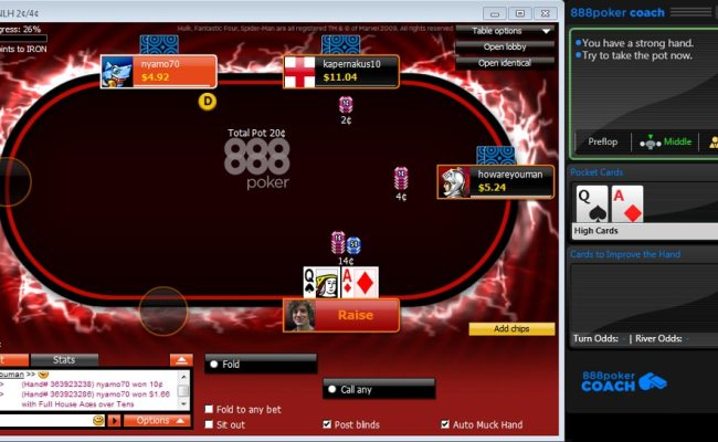 How To Sign Up And Play Online Poker At 888poker Cute766